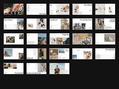 Pitch.com — Bonne Deck (A) minimal presentation deck pitch deck eco editorial design website colour layout ux grid typography ui index visual direction