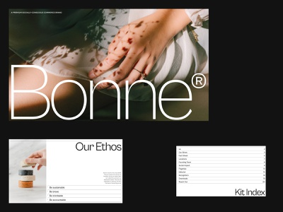 Pitch.com — Bonne Deck (B) index branding minimal editorial eco pitch deck presentation deck pitch design website layout ui ux grid typography visual direction