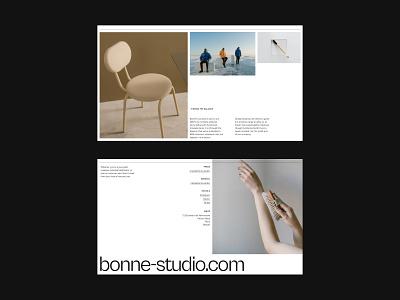Pitch.com — Bonne Deck (E) minimal editorial presentation pitch deck deck pitch graphic design logo illustration design website colour layout ux grid typography ui