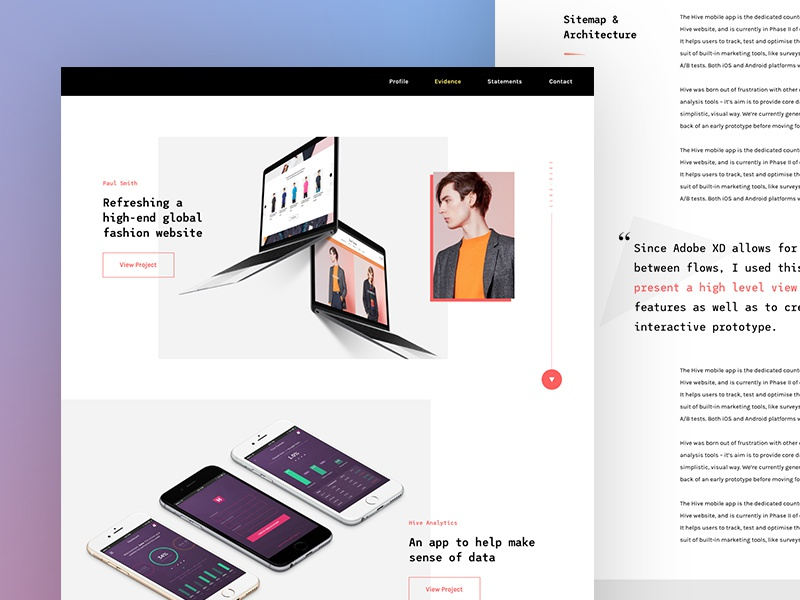 New Portfolio by Isaac Powell on Dribbble