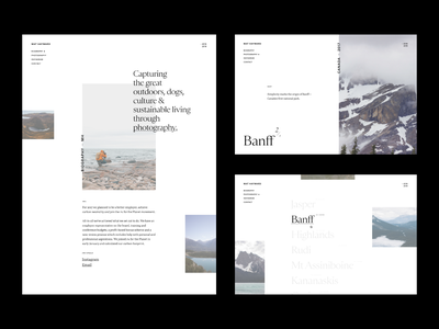 Photography Portfolio II clean minimal website personal ux web  design photography highlands contrast portfolio layout grid typography ui
