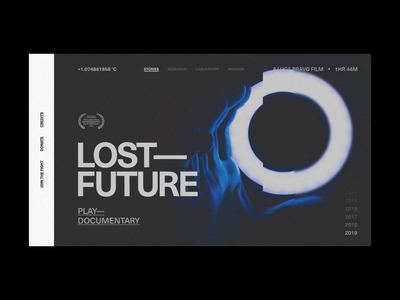 Lost Future glitch climate change documentary adobe xd animation motion contrast design layout grid ux typography ui