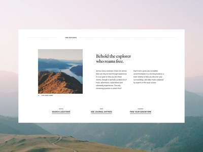 HutHut Adventures #4 - Detailing geometry ui typography ux grid colour layout contrast design website minimal photography adobe xd web design vector adventure travel traveling editorial landing