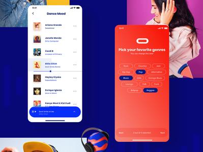 Sounds® minimal grid app design ux interface app design ui music player music app player ai music