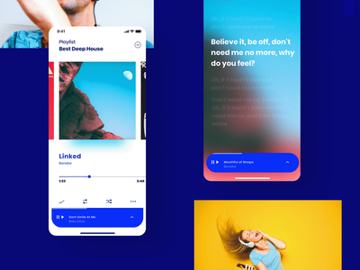 Sounds® clean design grid app design ux interface app ui sounds sound music player music app music