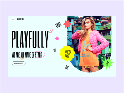 Playfully pastels colourful online shop online shopping woman website ecommerce marketing fashion brand fashion branding clean grid interface ux ui shopify shopping shop minimal