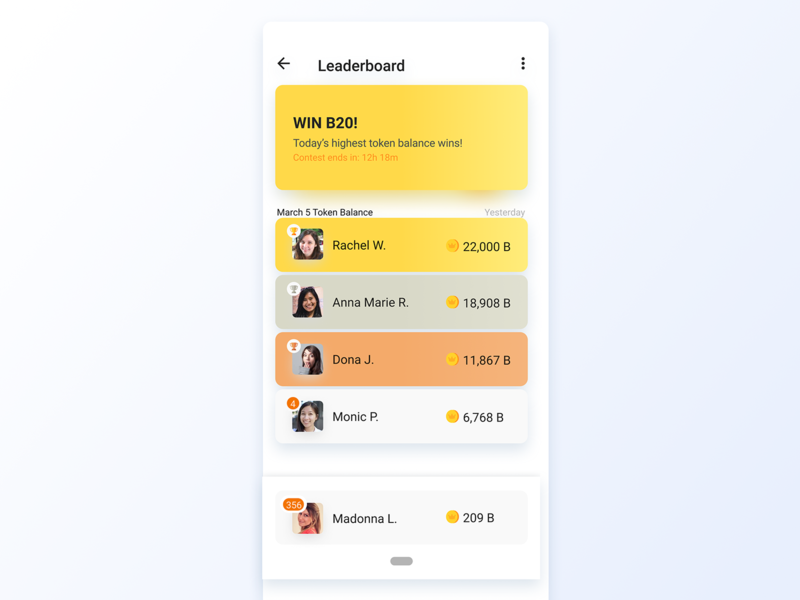 019 Leaderboard minimal illustration flat window website page interface grid icon app design design app dailyui leaderboard ux ui