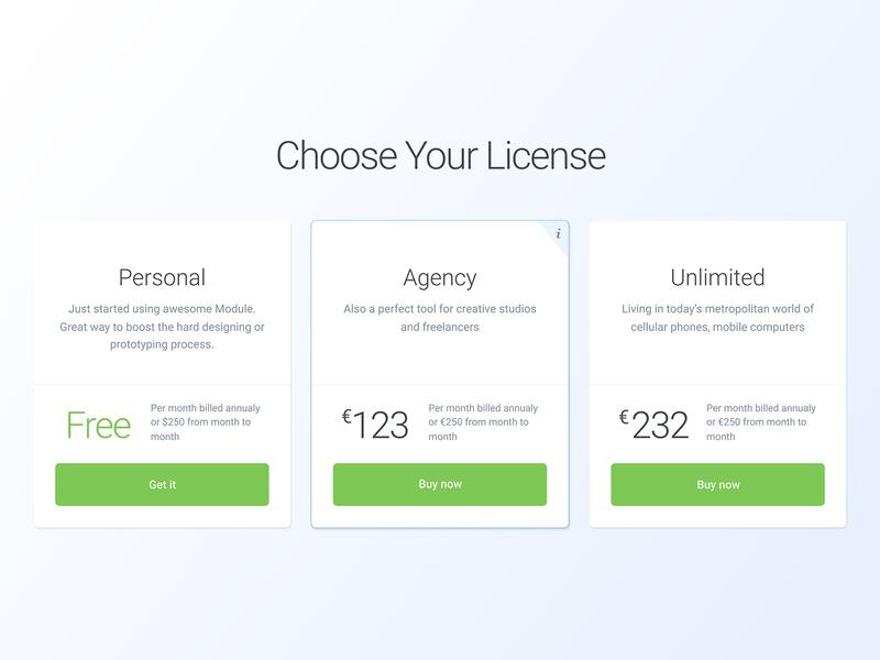 030 Pricing website page flat grid app design ux interface dailyui app design ui pricing