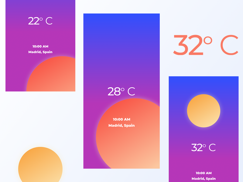 037 Weather icon vector illustration clean minimal flat grid ux app design interface dailyui app design ui sunny sun weather app weather