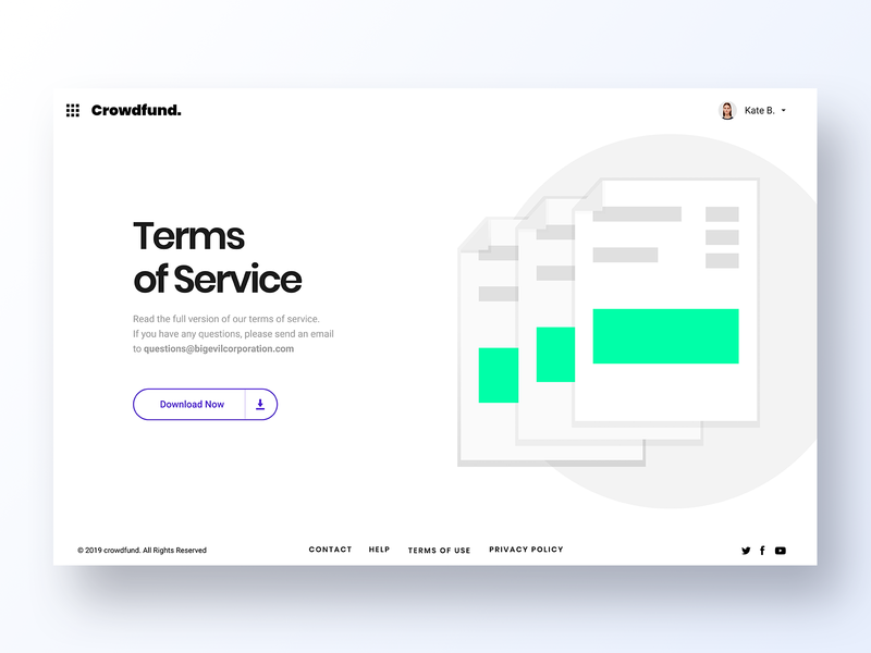 089 Terms of Service white services minimal app design ux interface app dailyui design ui papers doc docs documents info service terms term terms of service
