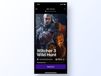 091 Games reviews review news app design ux interface app dailyui design ui cd projekt witcher 3 witcher game design gaming games game
