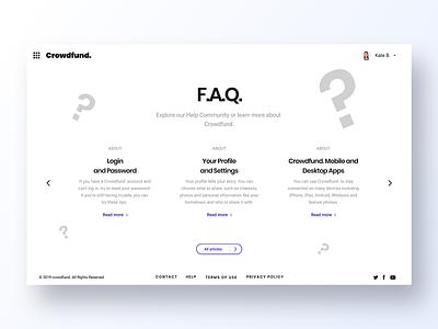 092 FAQ page grid minimal app design ux interface app dailyui design ui profiles user profile questions faqs faq