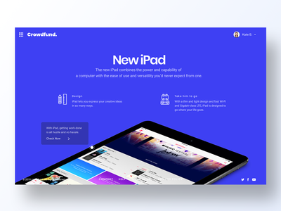 095 Product Tour minimal app design ux interface app dailyui design ui product page apple ipad overview products product tour