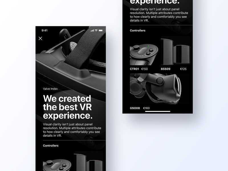 096 Currently In Stock valve minimal grid app design ux interface app dailyui design ui products virtual virtualreality virtual reality vr