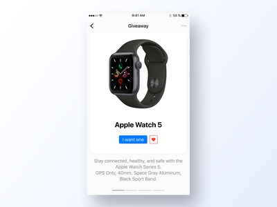097 Giveaway give away smartwatch app design ux interface app dailyui design ui watch series 5 new apple watch giveaways giveaway