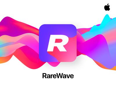 RareWave App typogaphy clean icon music app minimal grid app design interface app ux design ui