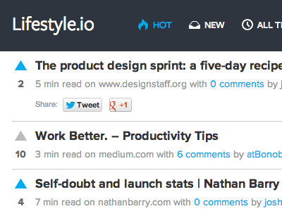 Lifestyle.io news feed
