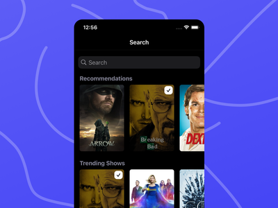 Search in CouchTimes product application ux design ui ios tv show tv app tv