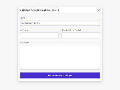 Pricing Modal form modal dialog modal motus web design web ui redesign