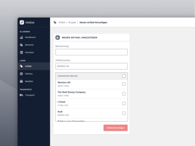 Add Item ui ux web design icons webapp cards product application tracking