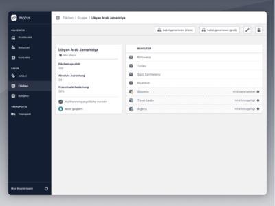 Area Profile ui ux web design icons webapp cards product application