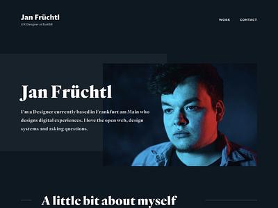 Homepage Cover website typography responsive design landing page clean portfolio web design web ui redesign layout grid