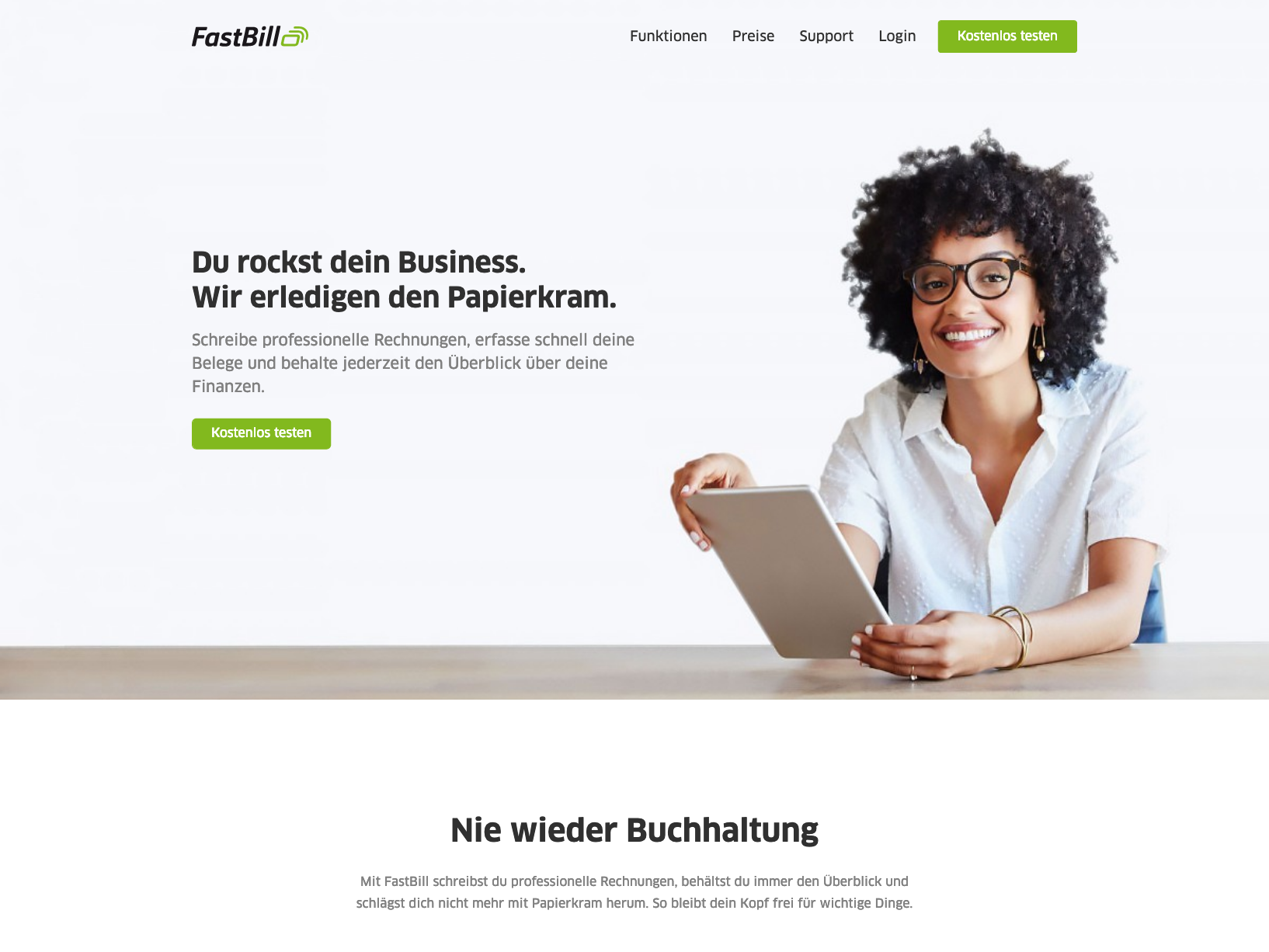 An embed embed post from my Dribbble account with the name FastBill - Homepage A/B Test