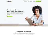 FastBill - Homepage A/B Test website ux web design design web ui