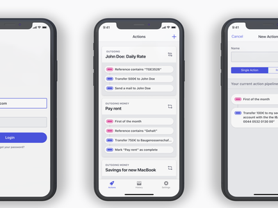 Acto product iphone ios cards ux application design ui
