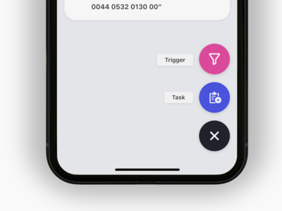 Acto - Create Floating Button ux application design ui ios