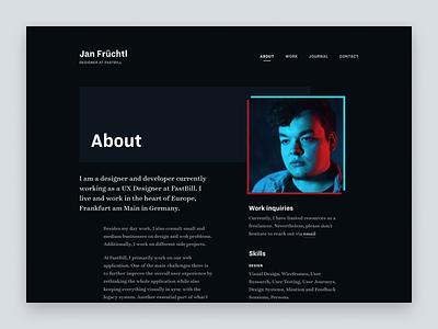 Portfolio 2019 - About redesign ux portfolio layout grid website web design design web ui