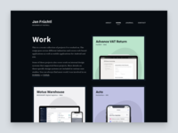 Portfolio   Work layout grid website web design design web ui