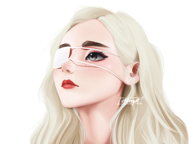 🌒 | 🐠 fanart loona jinsoul white drawings procreate ipadpro girl character girl art character cute illustration