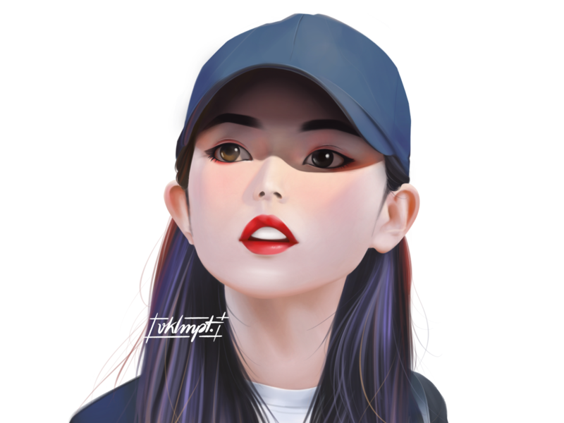 🌒 | 🐺 oliviahye wolf loona fanart drawings procreate ipadpro girl character girl art character cute illustration