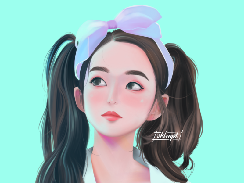 🍉 fanart irene redvelvet drawings procreate ipadpro girl character girl art character cute illustration