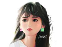 🌒   🐠 jinsoul fanart loona drawings procreate ipadpro girl character girl art character cute illustration