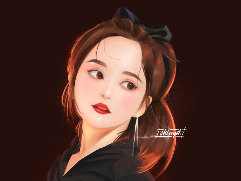 🍇 fanart yeri redvelvet drawings procreate ipadpro girl character girl art character cute illustration