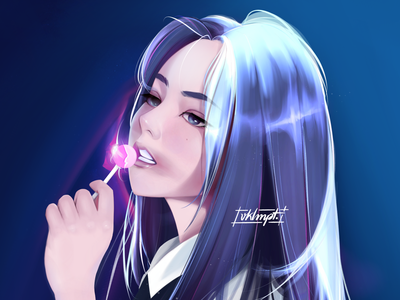 🐰 heejin loona fanart drawings procreate ipadpro girl character girl art character cute illustration
