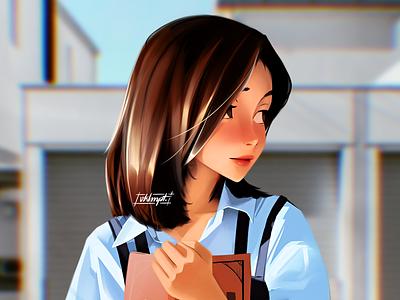 📙 anime girl character girl drawings art cute character illustration