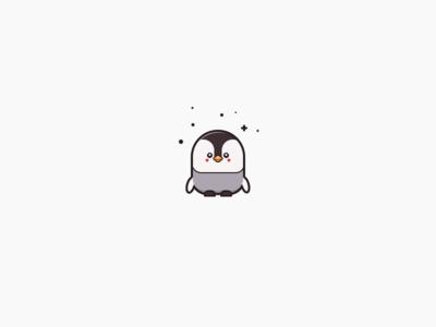 Penguin character cute penguin water birds flightless aquatic animal illustration white black antarctica