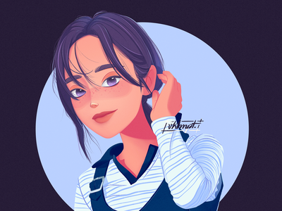 👱🏻♀️ girl character girl drawings procreate ipadpro art character cute illustration