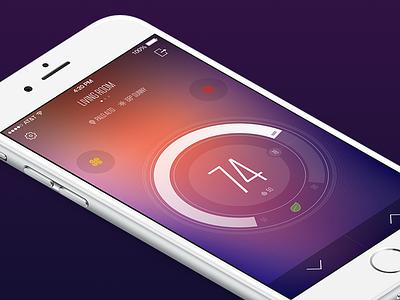 Kontrol App themperature ux ui app kontrol thermostat nest ios