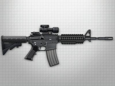 M4a1 m4a1 assault rifle gun weapon