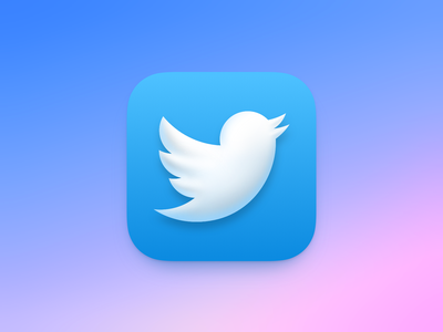 Twitter icon for macOS Big Sur macos icon replacement replacement icon twitter logo icon-design big sur macos design icon