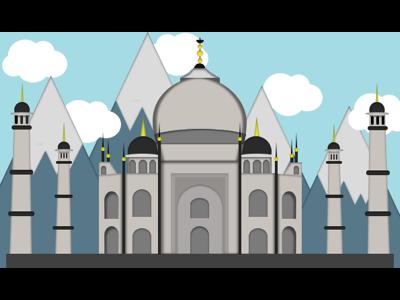Vectorized Taj mahal