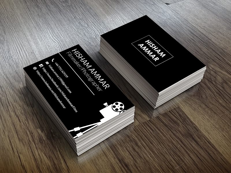 Filmmaker business card by israa ali dribbble a business card that i did a while ago for the photographer and filmmaker hisham ammar check the whole project at colourmoves