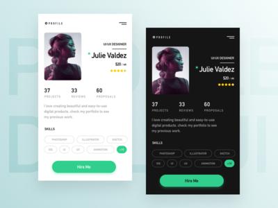 Daily UI - #006 : User Profile