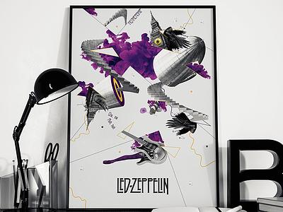 Led Zeppelin purple collage zeppelin led