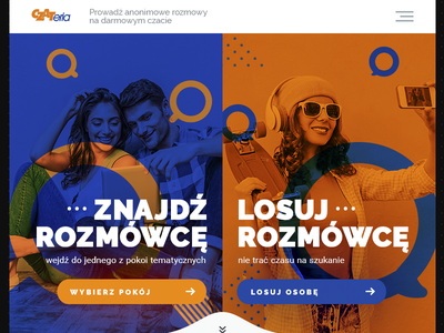 czateria redesign talking blue orange rulette chat