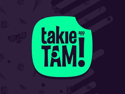 takie tam app logo just that like app fun logotype green